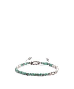 M COHEN | Beaded Malachite And Sterling Bracelet