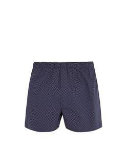 Sunspel | Polka Dot-Print Cotton Boxer Shorts