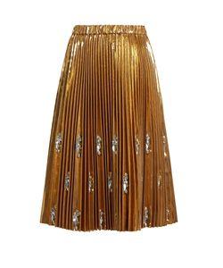 No. 21 | Embellished Pleated Midi Skirt