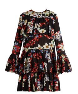 MSGM | -Print Tie-Hem Cotton Dress