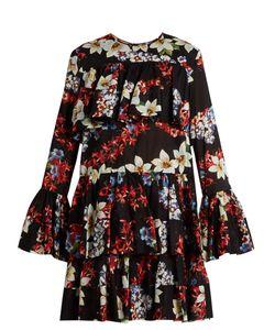 MSGM   -Print Tie-Hem Cotton Dress