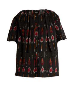 Rachel Comey | Salon Flame-Ikat Button-Down Cotton Top