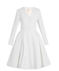 Sara Battaglia   Button-Through Full-Skirt Dress