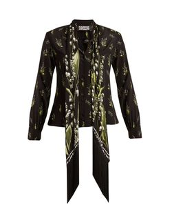 ROCKINS | Skully Of The Valley-Print Silk Shirt