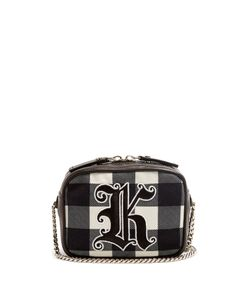 Christopher Kane | Embroide Gingham Cross-Body Bag