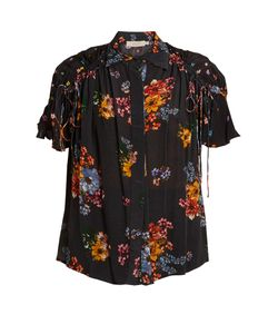 Preen Line | Paige Gathered-Detail Print Shirt