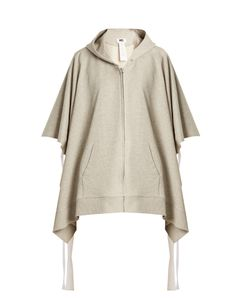 MM6 by Maison Margiela | Tie-Side Cotton Hooded Sweatshirt