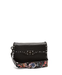 Valentino | Rockstud Grained-Leather Cross-Body Bag