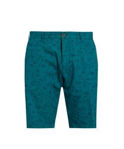 J.W. Brine | Leaf-Print Cotton Shorts