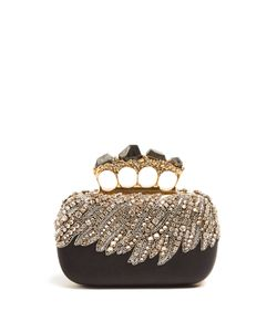 Alexander McQueen | Crystal-Embellished Knuckle Clutch