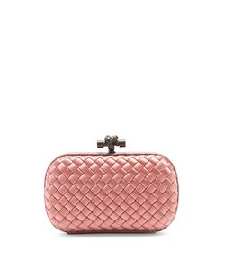 Bottega Veneta | Knot Satin And Water-Snake Clutch