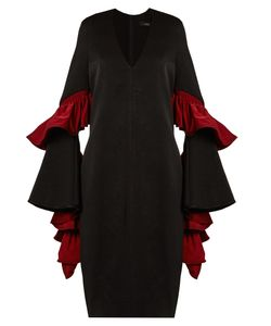 Ellery | Molotov Ruffled-Sleeve Cady Midi Dress