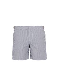 Orlebar Brown | Bulldog Mid-Length Seersucker Swim Shorts