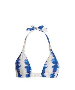 BIONDI | Riviera Abstract-Print Triangle Bikini Top