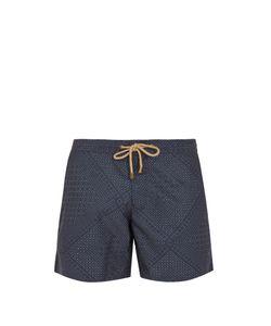THORSUN | Titan-Fit Quilt-Print Swim Shorts