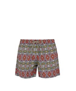 ÒKUN | Masai Tribal-Print Swim Shorts