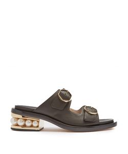 Nicholas Kirkwood | Casati Pearl-Heeled Leather Sandals