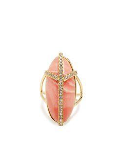 JACQUIE AICHE | Diamond Rhodochrosite Ring