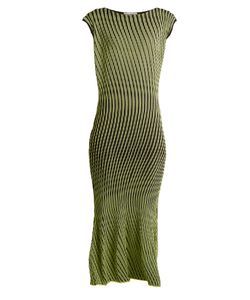 Issey Miyake | Plasma 1 Waved Stripe-Pleated Midi Dress