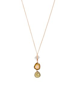 JACQUIE AICHE | Diamond Quartz Tourmaline Topaz Necklace