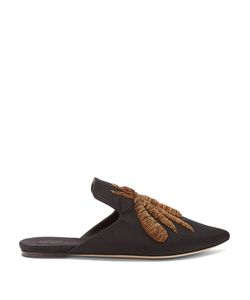 SANAYI 313 | Ragno Embroidered Faille Slipper Shoes