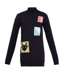 J.W. Anderson | Patch-Detail Roll-Neck Wool-Blend Sweater