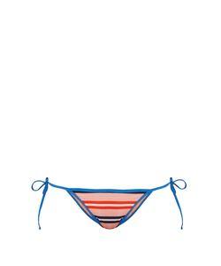 Diane Von Furstenberg | Stripe-Print Tie-Side Bikini Briefs