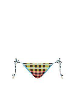 Mara Hoffman | Plaid Mustard-Print Tie-Side Bikini Briefs