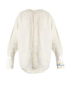 J.W. Anderson   Shark-Embroide Linen Shirt