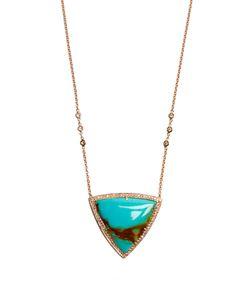 JACQUIE AICHE | Diamond Turquoise Rosenecklace