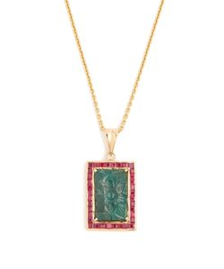JADE JAGGER | Emerald Ruby Necklace
