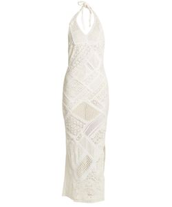 ANJUNA | Ebi Halter-Neck Crochet Maxi Dress