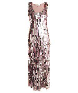 Diane Von Furstenberg | Embellished Sleeveless Silk Dress