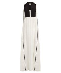 ZEUS + DIONE | Cypress Geometric-Jacquard Silk-Blend Dress