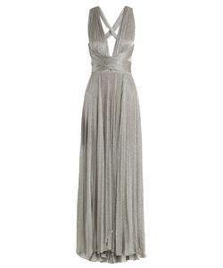 Maria Lucia Hohan | Perla Pleated Halterneck Mesh Gown