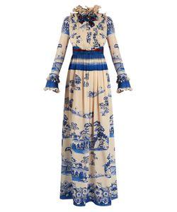 Gucci | Porcelain Garden-Print Silk Gown