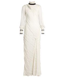 Erdem | Hollie Asymmetric-Panel Silk-Chiffon Gown