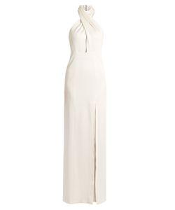 GALVAN | Halterneck Jersey-Knit Gown