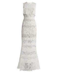 Elie Saab | Sleeveless Macramé-Lace Gown