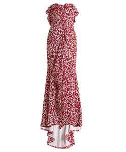 Oscar de la Renta   Strapless Silk Crepe De Chine Gown