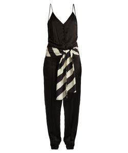 HILLIER BARTLEY | Sleeveless Silk-Satin Slim-Leg Jumpsuit