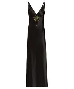 ATTICO | Caroline Palm-Embellished Satin Dress