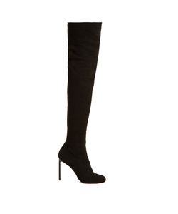 FRANCESCO RUSSO   Eyelet-Knit Sock Over-The-Knee Boots
