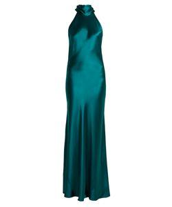 GALVAN | Halterneck Silk-Satin Gown