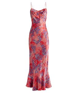 Saloni | Mimi Print Silk-Satin Dress