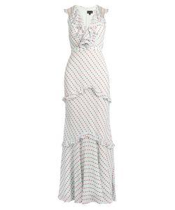 Saloni | Rita Ruffle-Trimmed Sleeveless Dress
