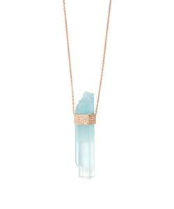 JACQUIE AICHE   Diamond Aquamarine Rosenecklace