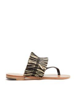ÁLVARO   Alberta Raffia-Embellished Sandals