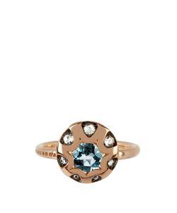 SELIM MOUZANNAR | Diamond Aquamarine Mille Et Une Nuit Ring