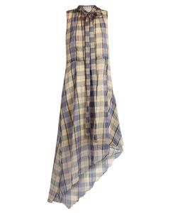 Marni | Asymmetric Madras-Checked Midi Dress